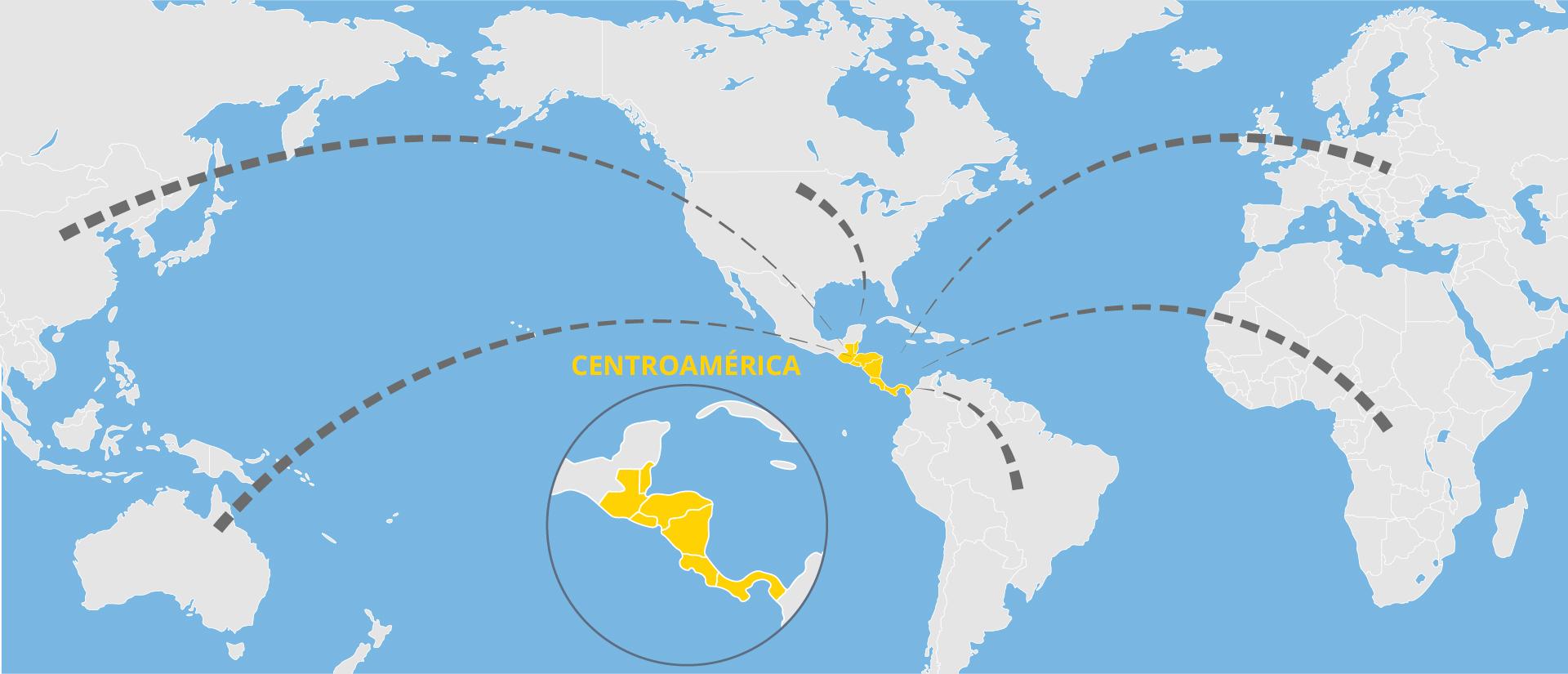 Centroamérica en el mundo