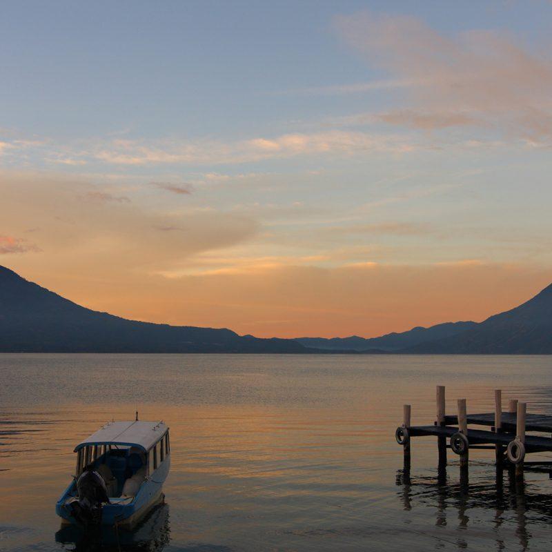 Lago Atitlán en Guatemala