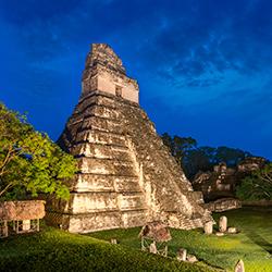 Central America. Ruinas Tikal in Guatemala