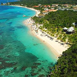 Central America. Roatan bay in Honduras