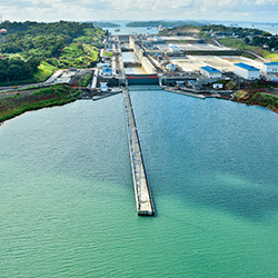 Central America. Panama Canal in Panama