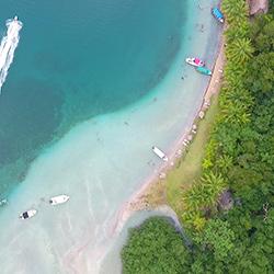 Playa de las Estrellas en Bocas de Toro, Panamá