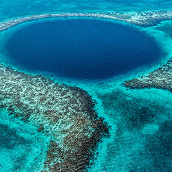 Central America. Blue Hole in Belize