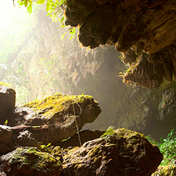 Central America. St Herman Cave in belize