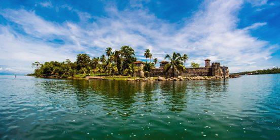 Central America. San Felipe Castle in Guatemala