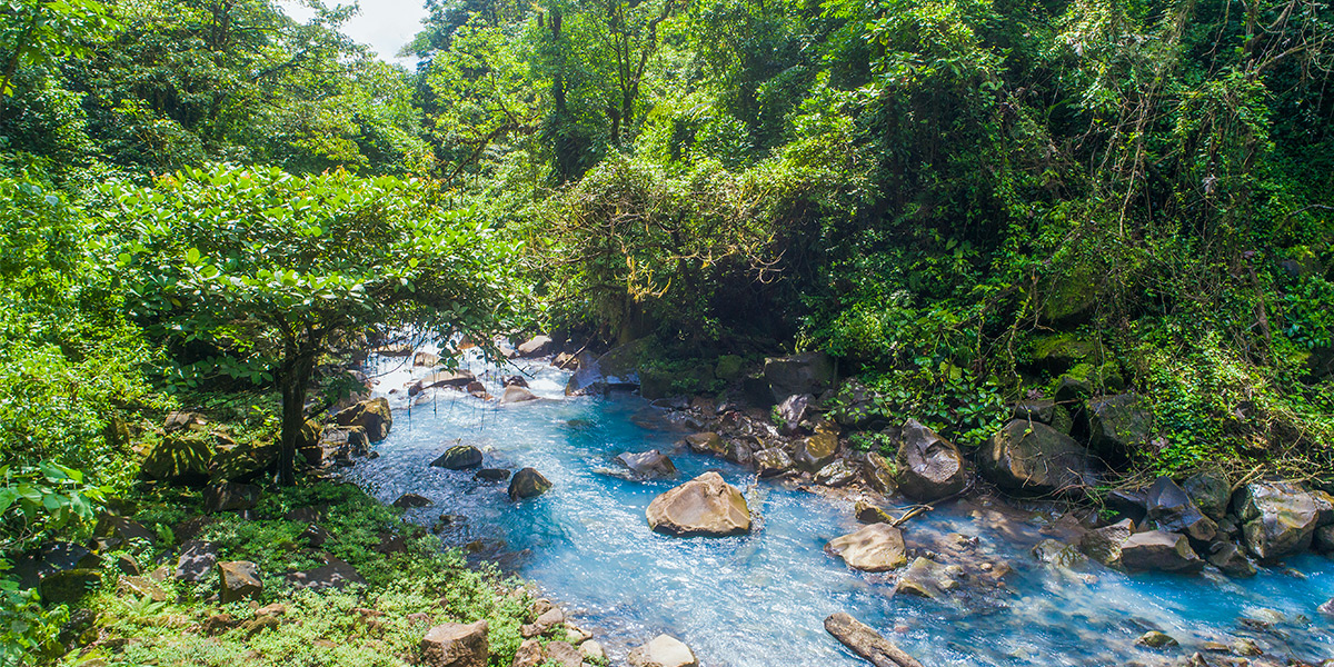 Tenorio Volcano National Park, nature and geology in Costa Rica